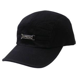 New Supreme Name Plate Camp Cap Black SS20